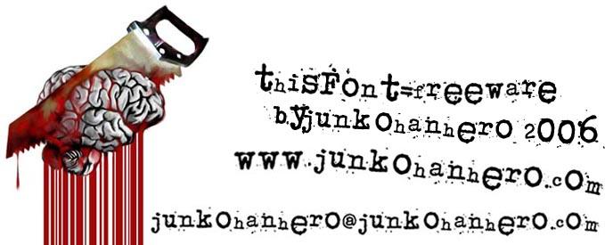Download Free Font Junkos Typewriter