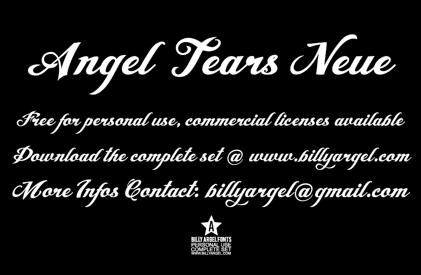 Font angel tears neue free download | typeface.