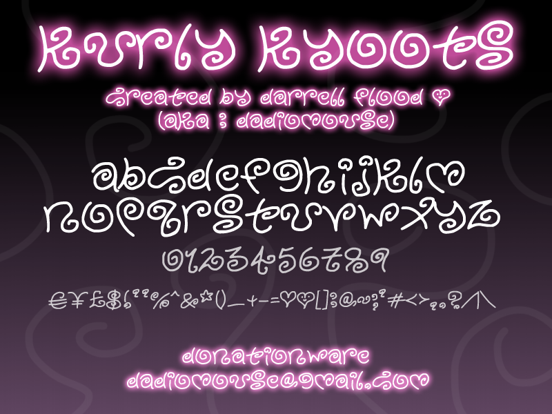 Download Free Font Kurly Kyoots