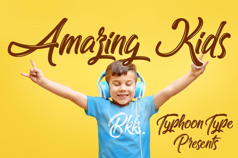 Download Free Font Amazing Kids