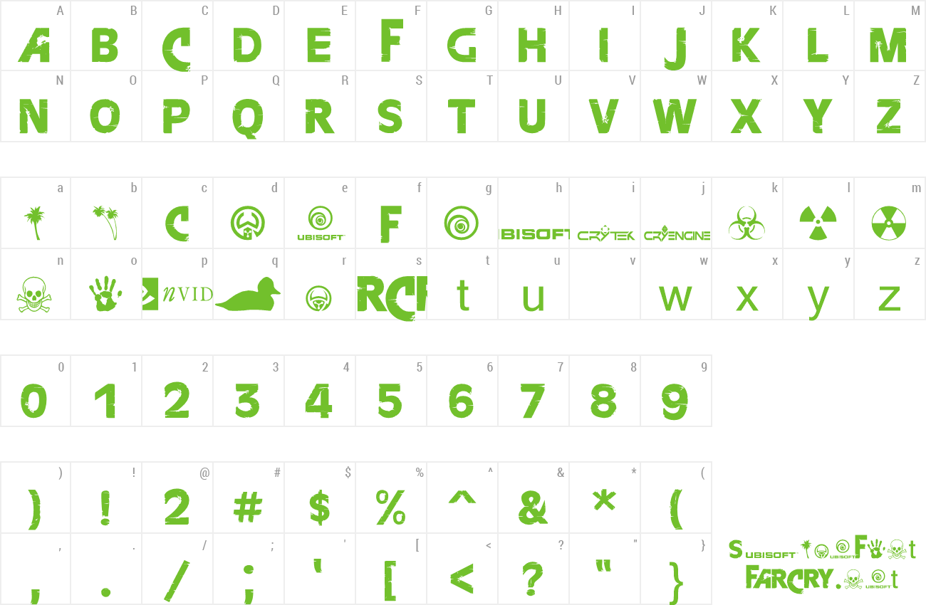 Download Free Font Farcry