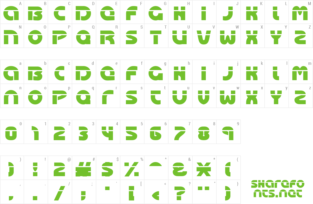 Font Oasis preview