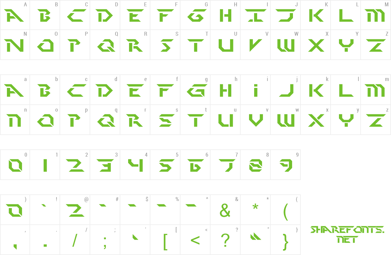 Font Perfect Dark (BRK) preview