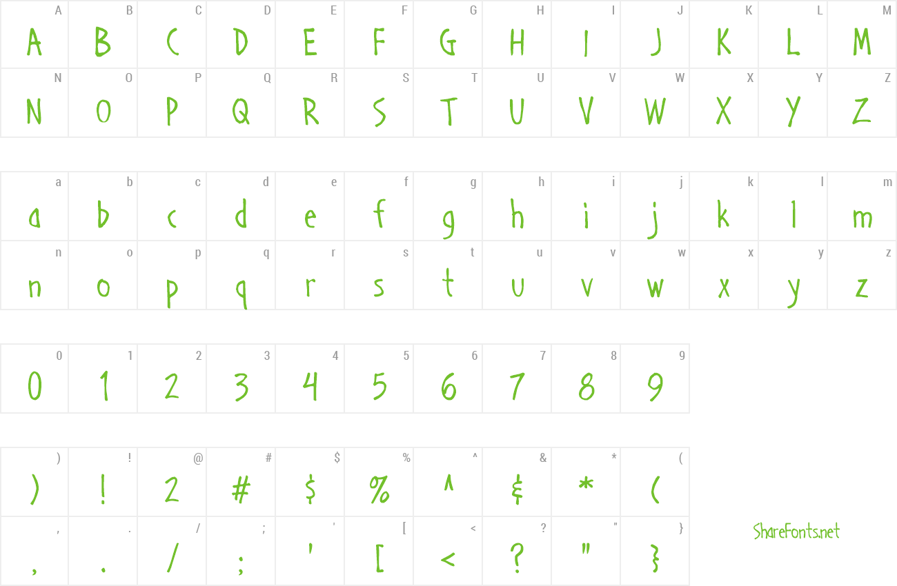 Font Handage AOE preview