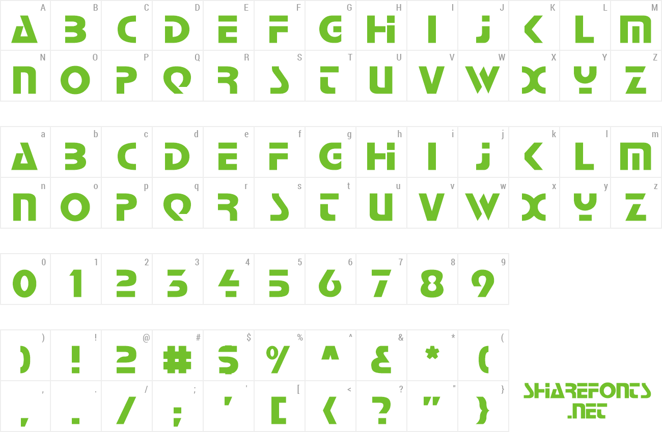 Font Babylon Industrial preview