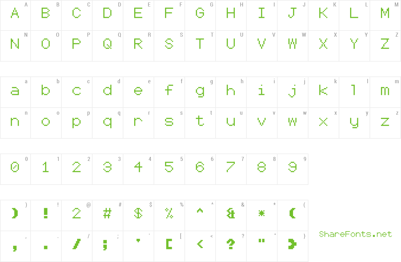 Font Coder's Crux 2 preview