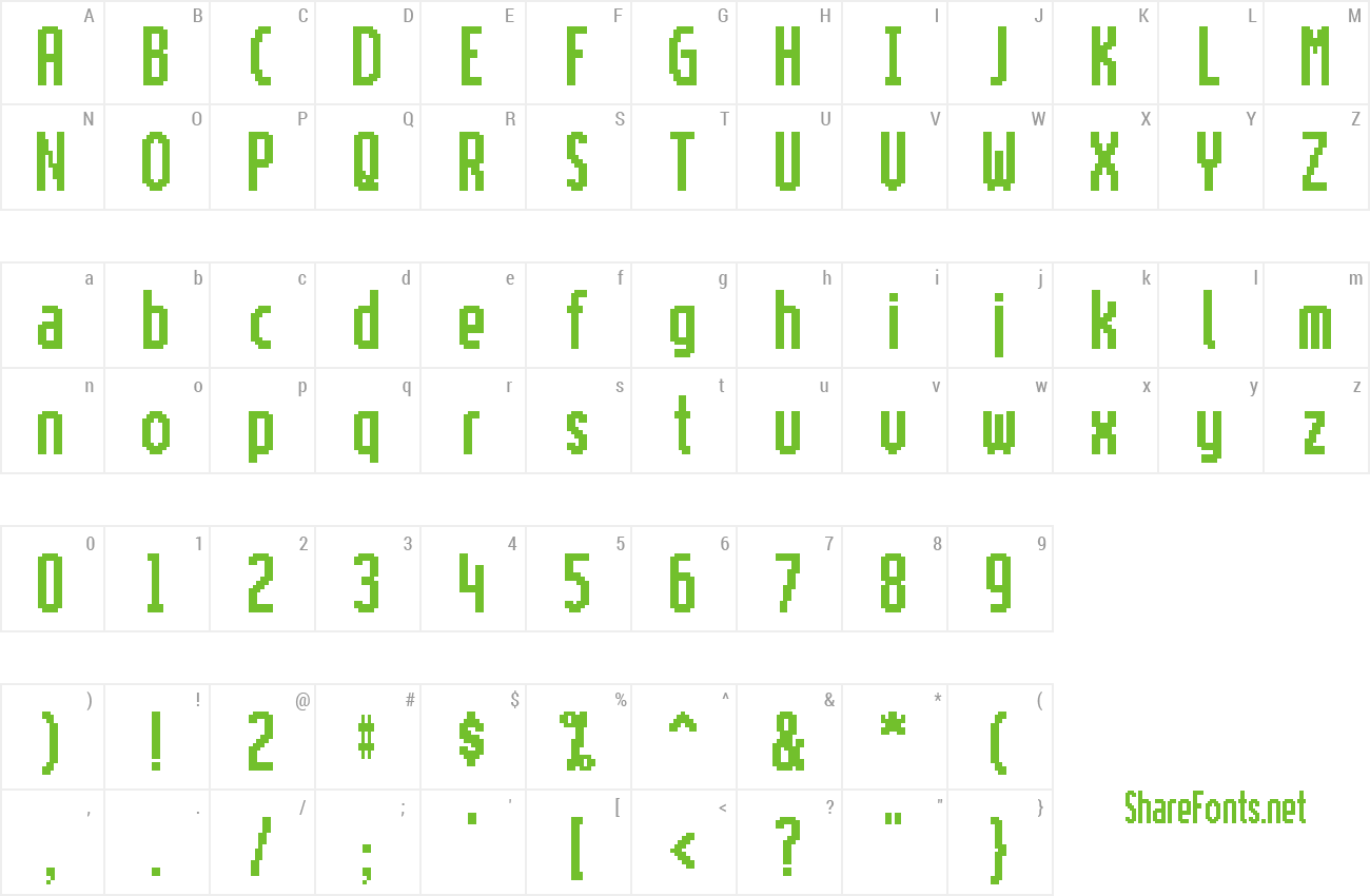 Font Motorola ScreenType preview