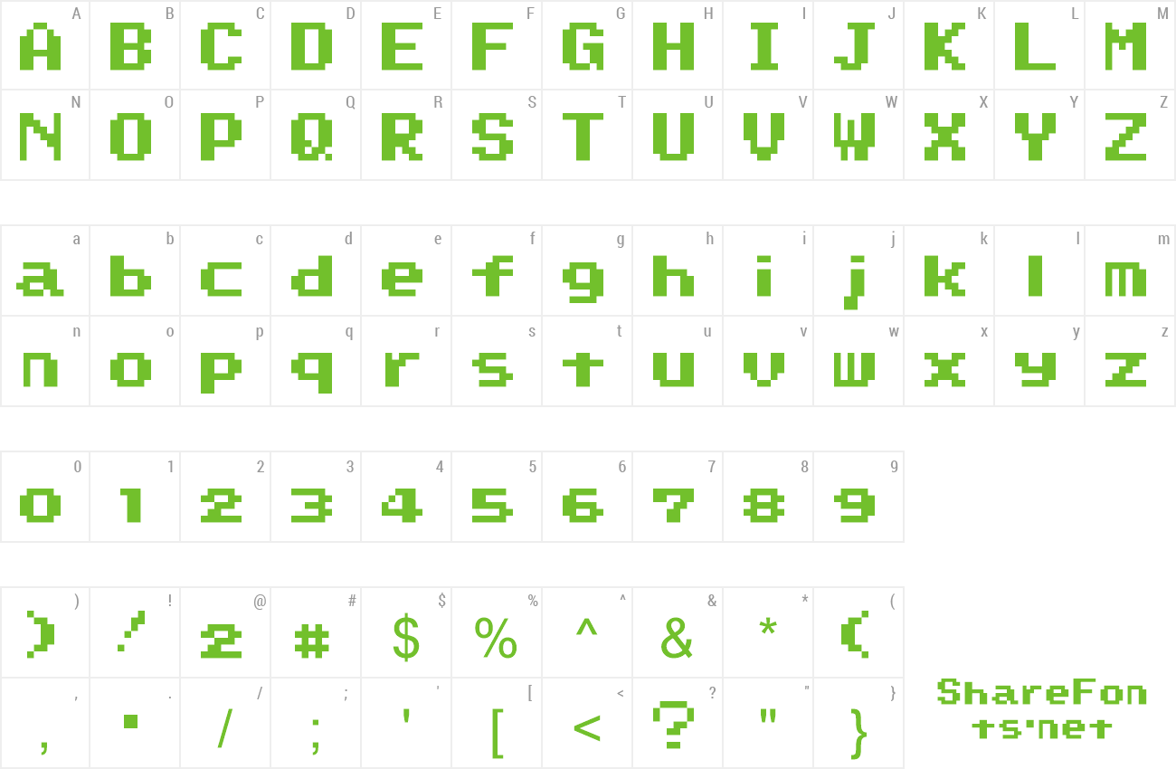 Font Super Mario World preview