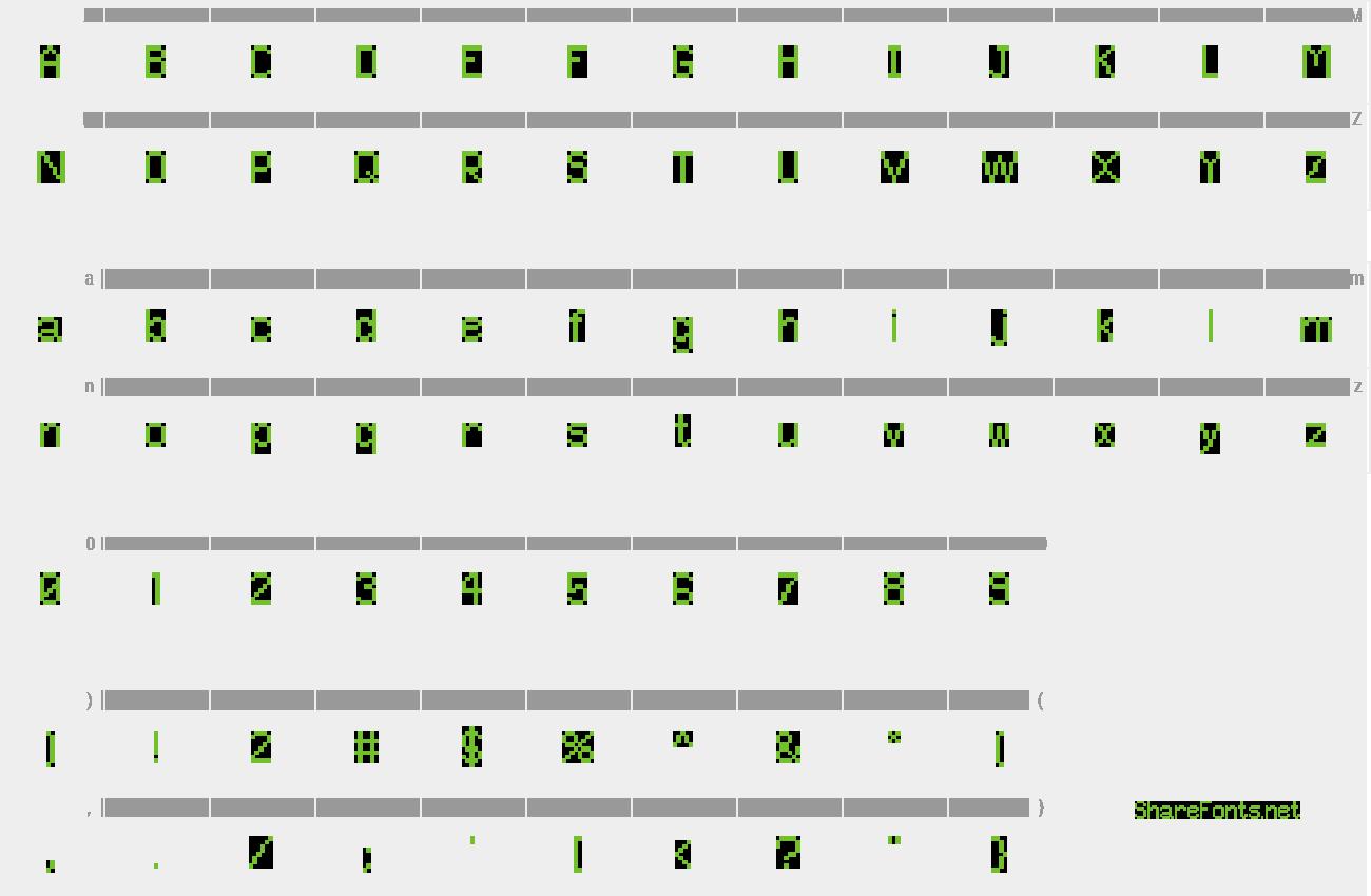Download Free Font Pixel UniCode