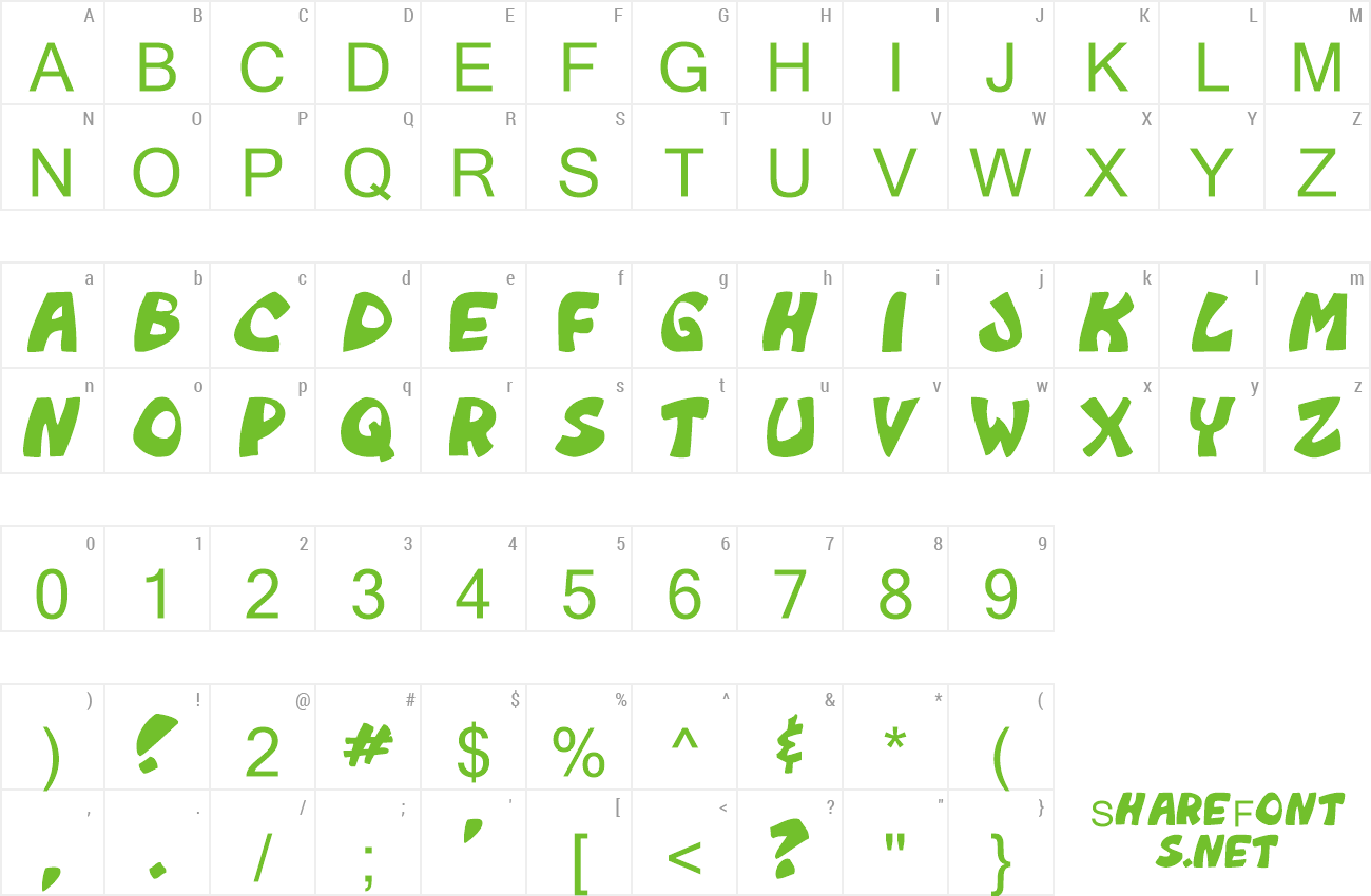 Font Monkeyboy preview