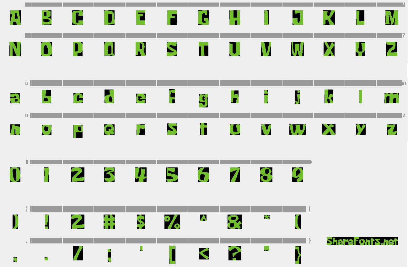 Download Free Font Krabby Patty