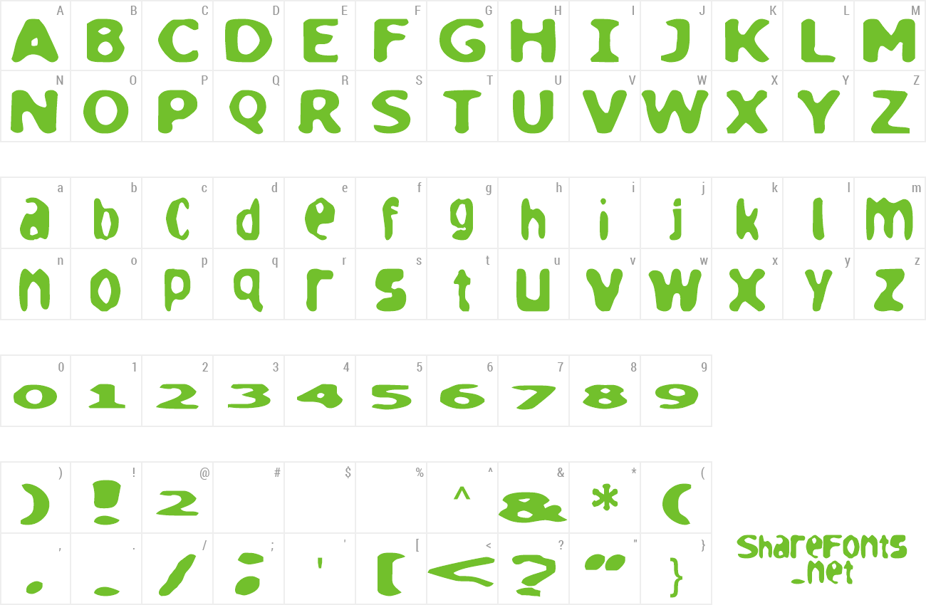 Font loaf preview