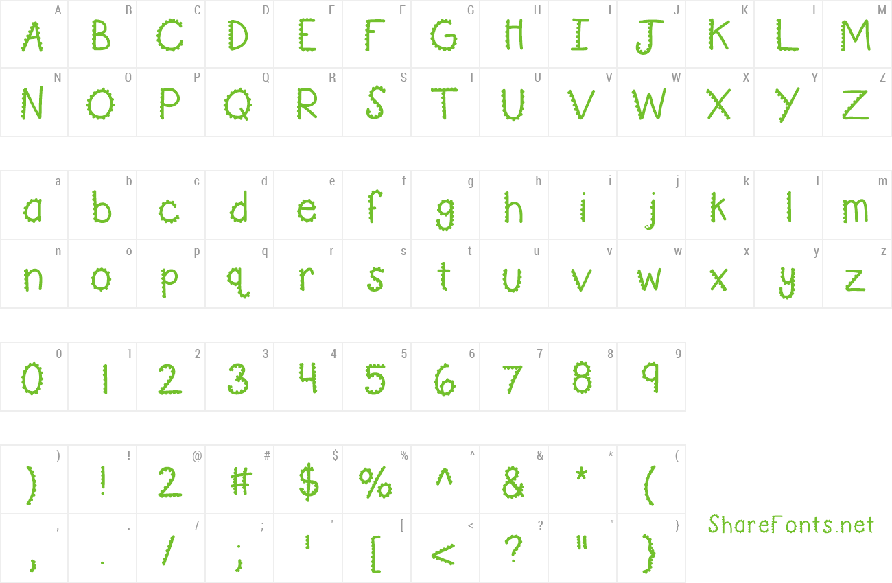 Font KBTurningGears preview