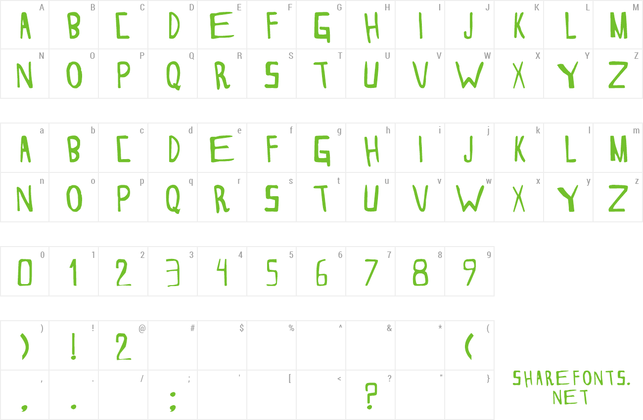 Font THESORDEN preview