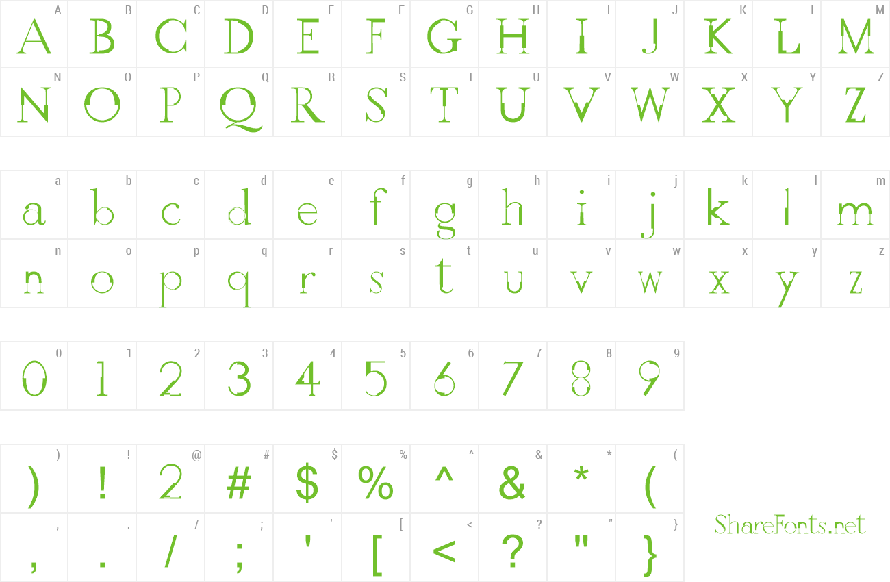Font GothicVille preview
