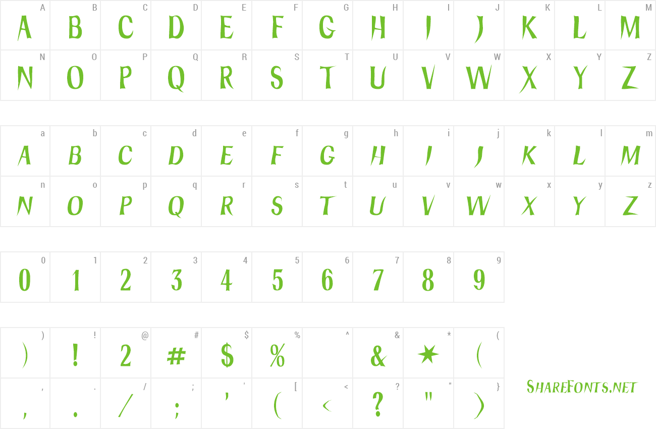 Font Hydra preview