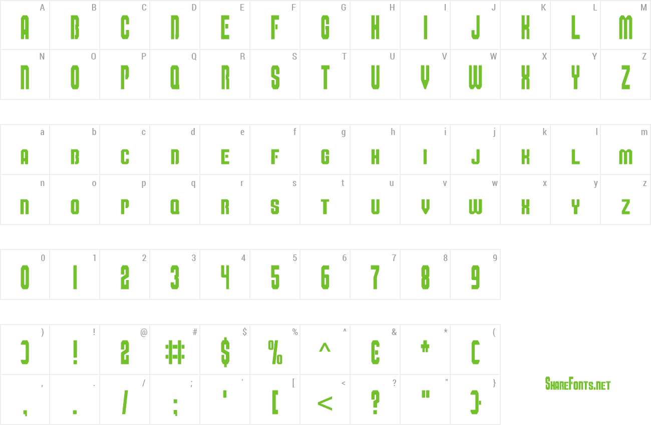 Font Super Mario Bros Alphabet preview