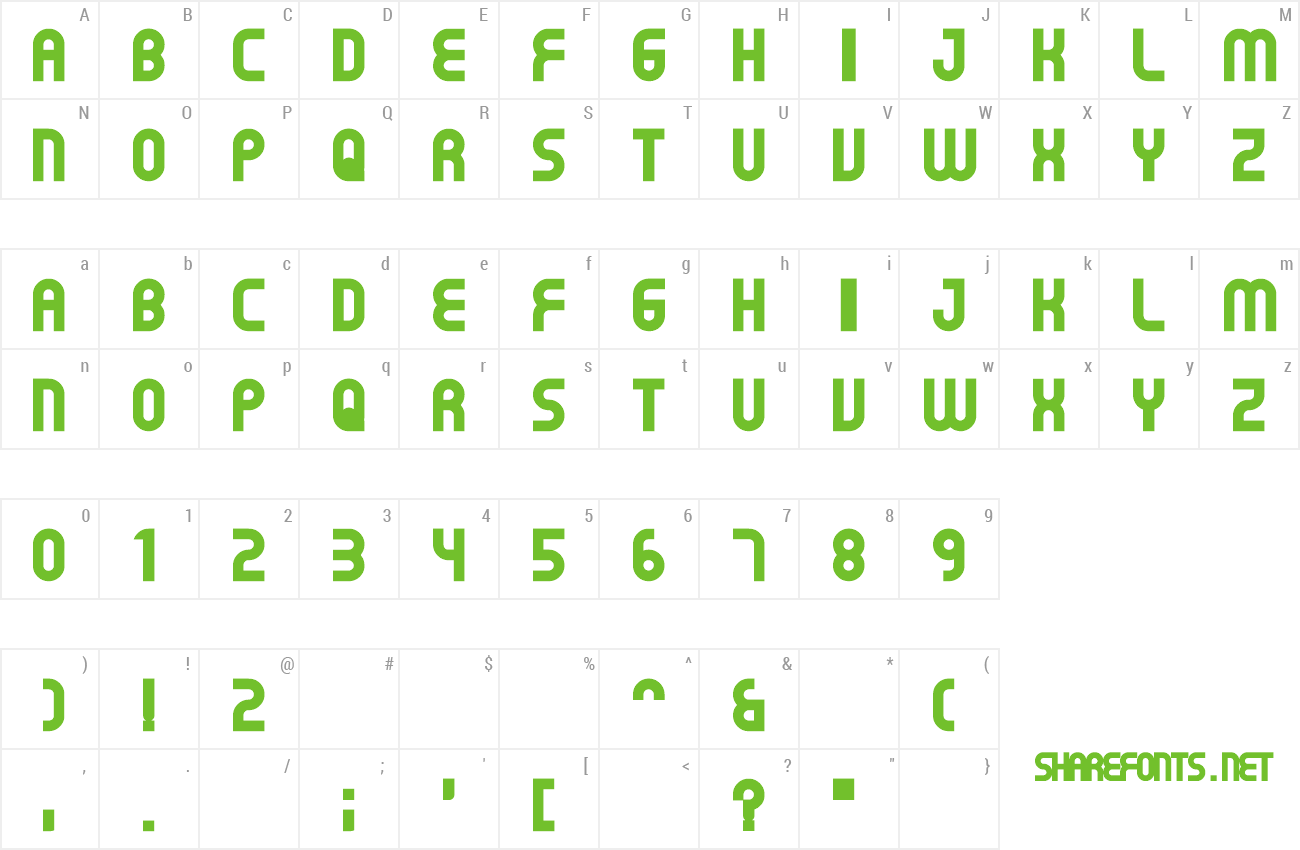 Font Gear preview