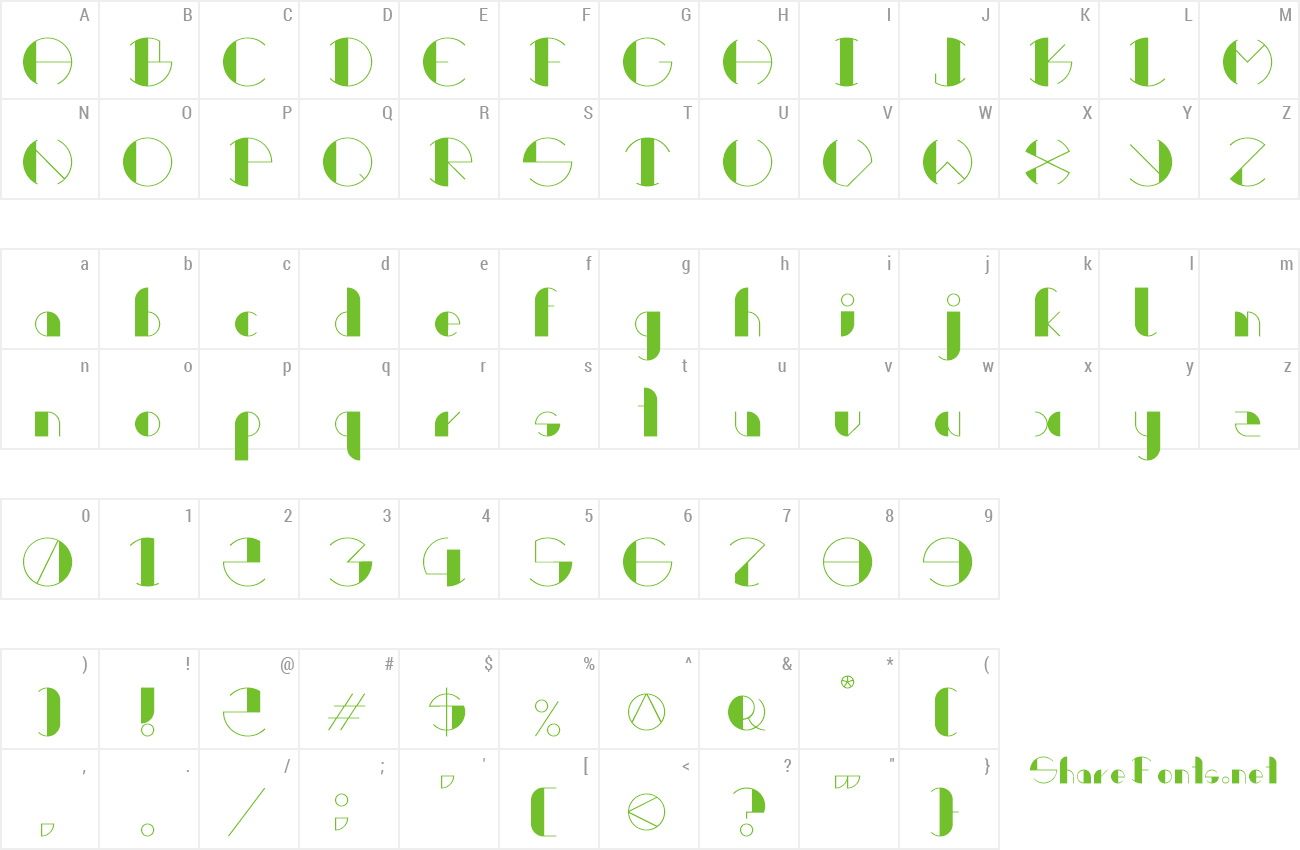 Font Retrocircular preview