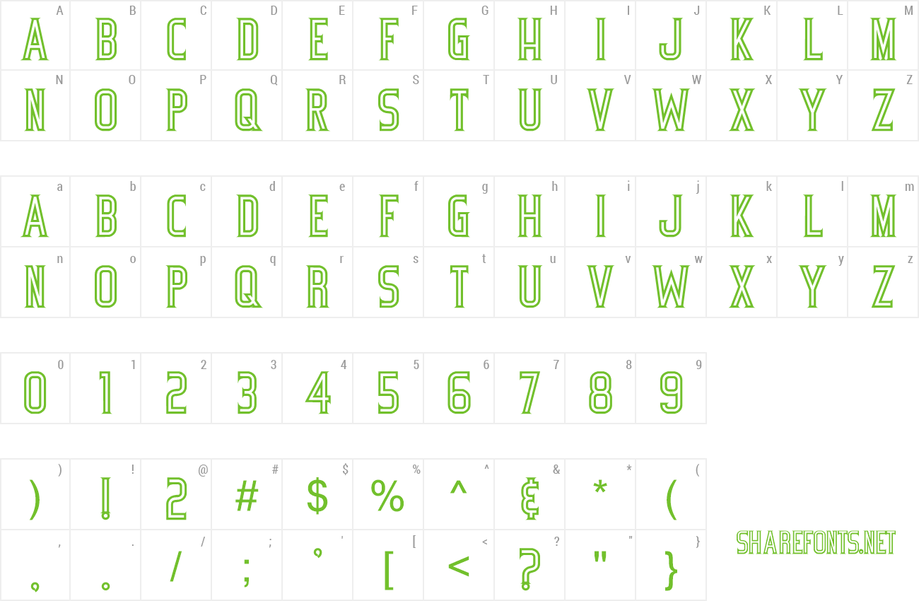 Font BicycleFancy preview