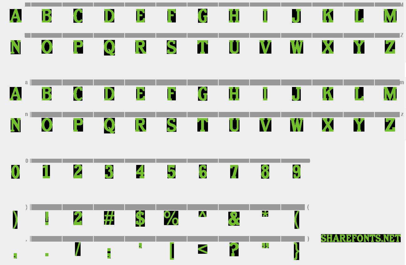 Download Free Font Old Letterpress Type