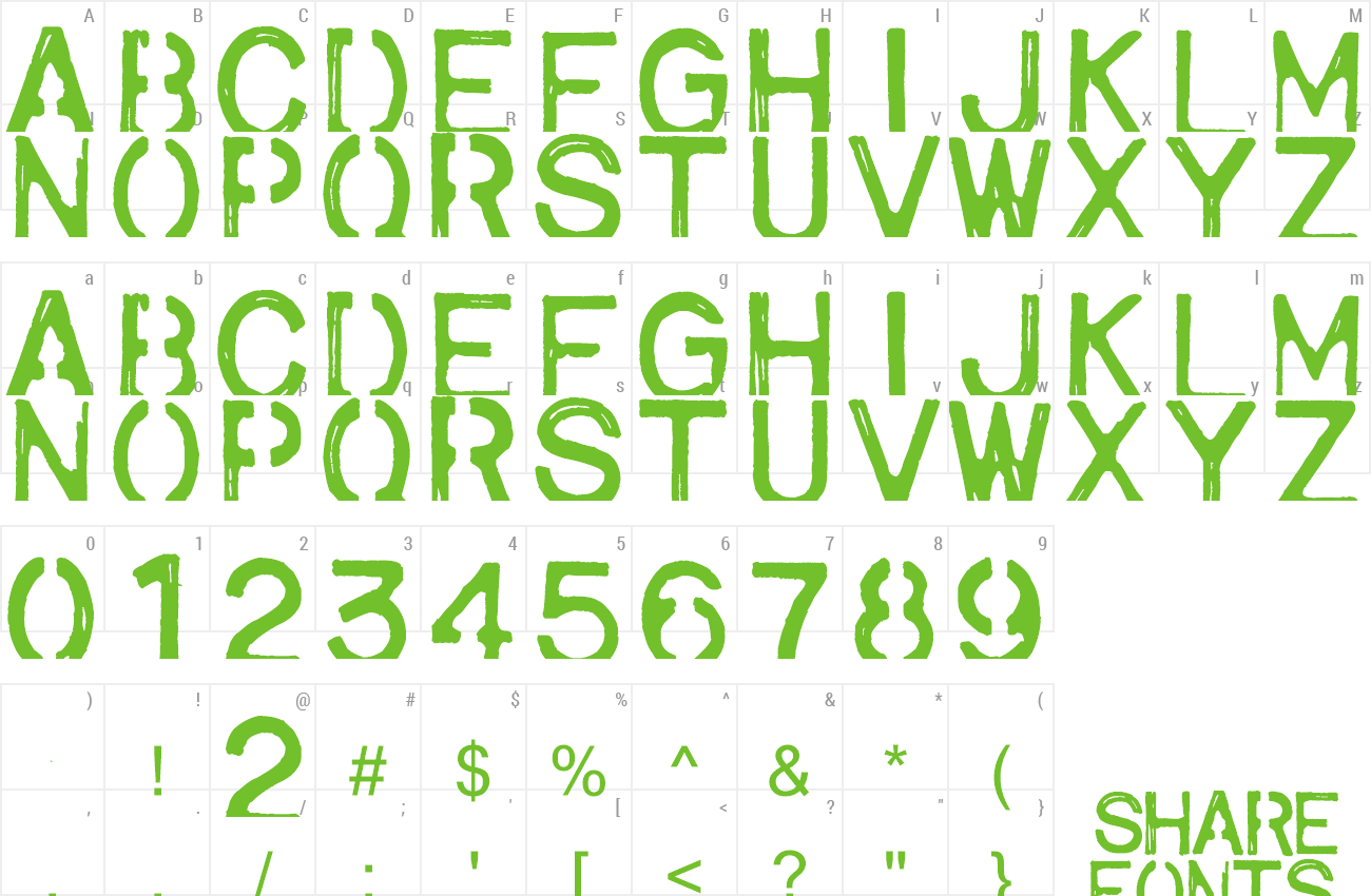 Font army1 preview