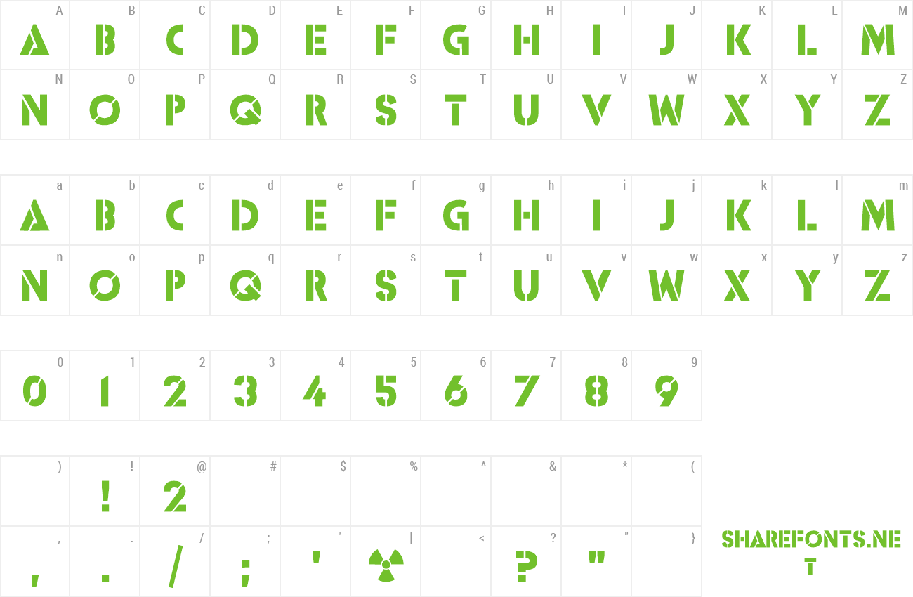 Font ICBM SS-25 preview