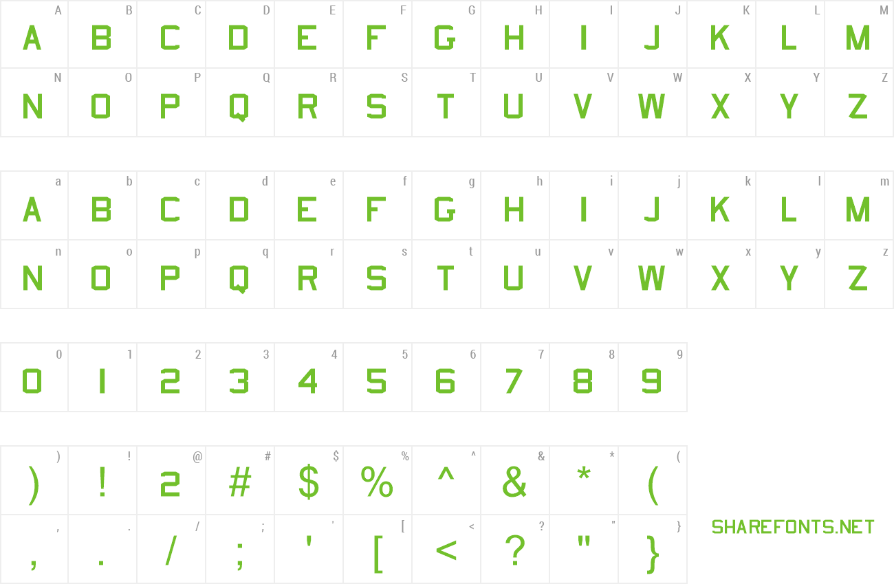 Font USN_Stencil preview