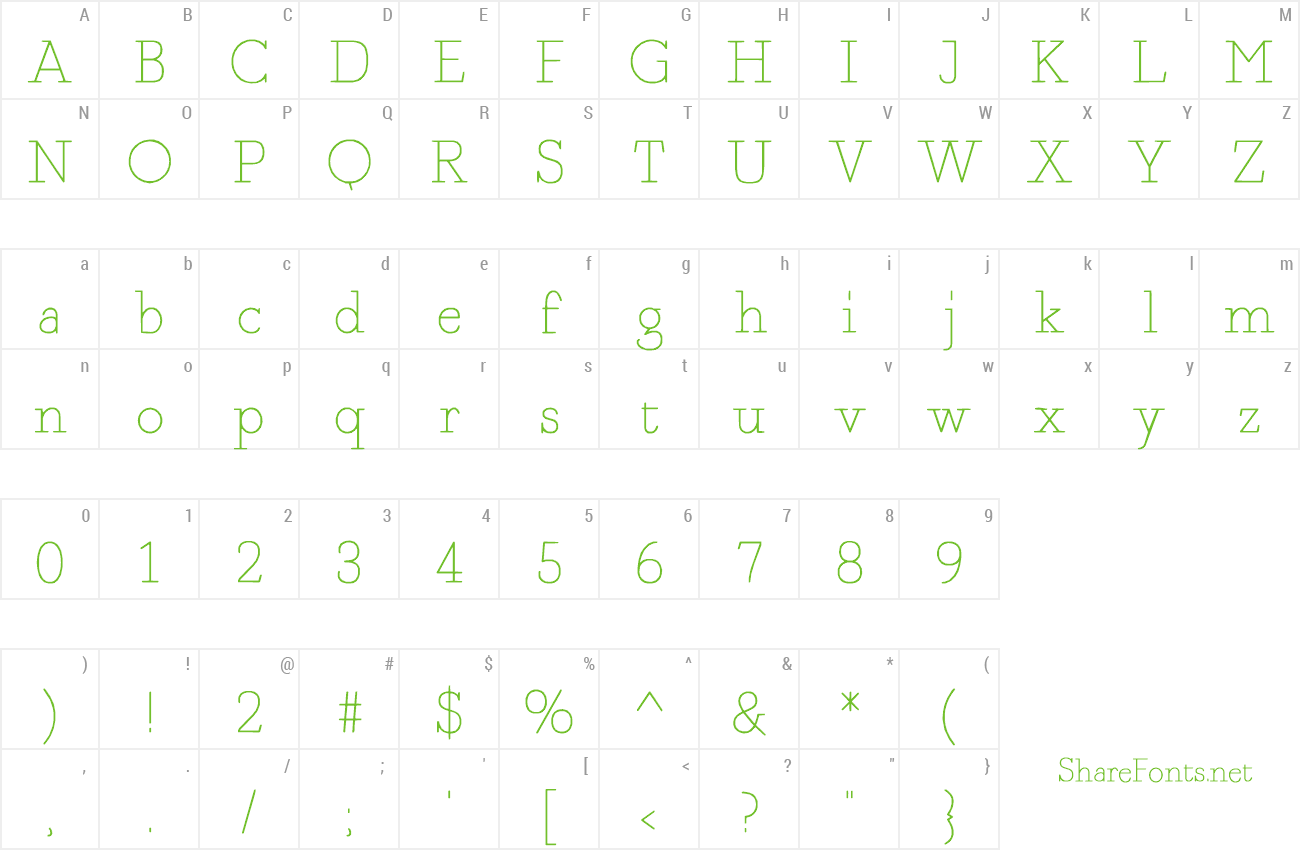 Font Fragment Core preview