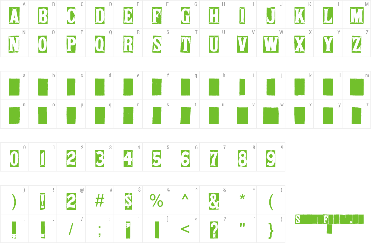 Font SPRING FIELD TABLES preview