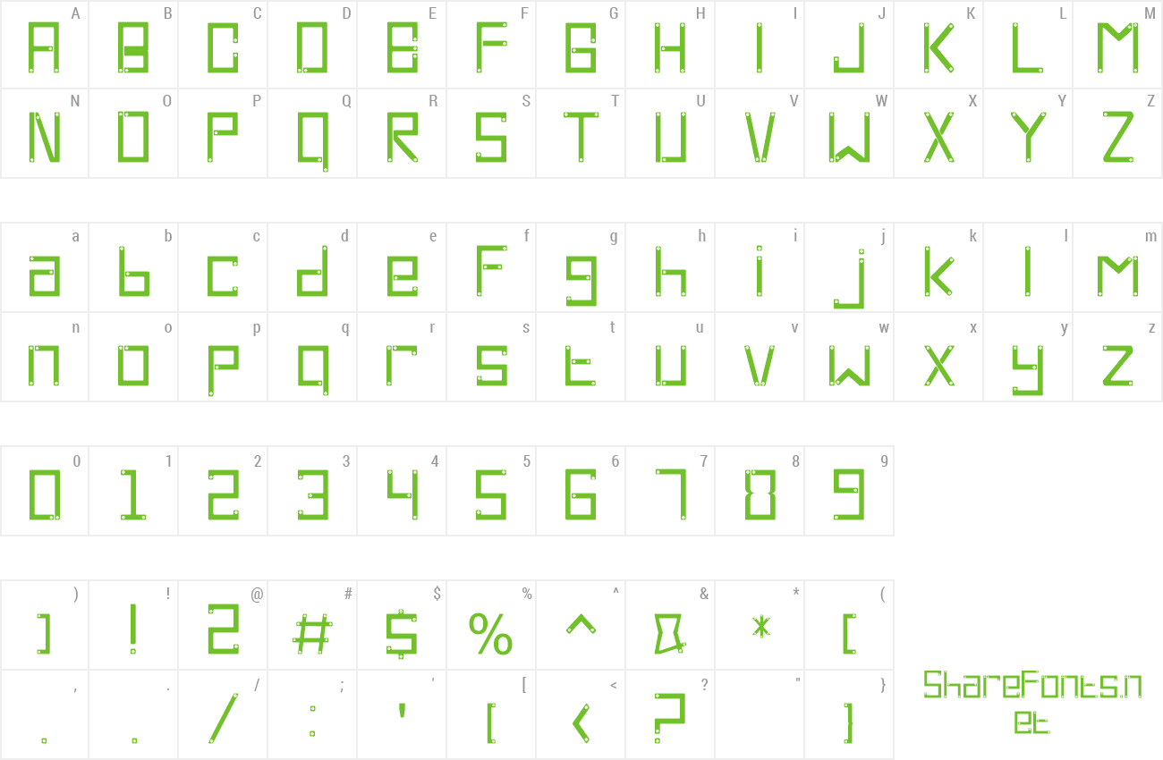 Font Cross Screw preview