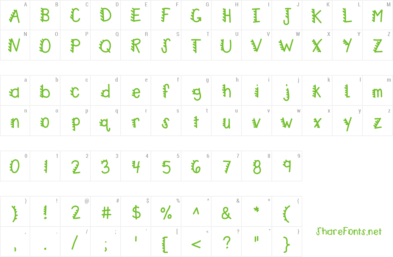 Font KBRacecars preview