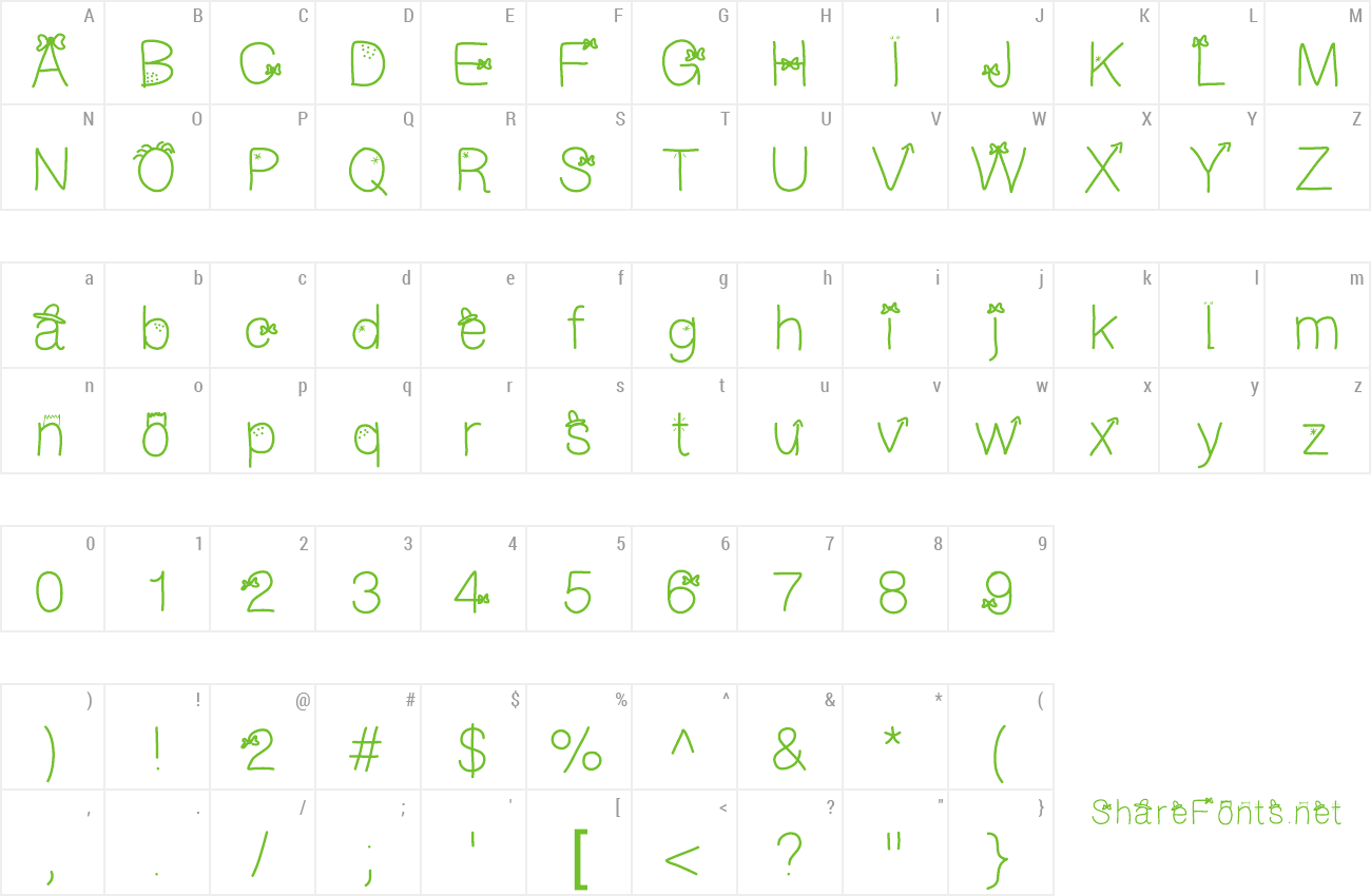 Font galFont preview