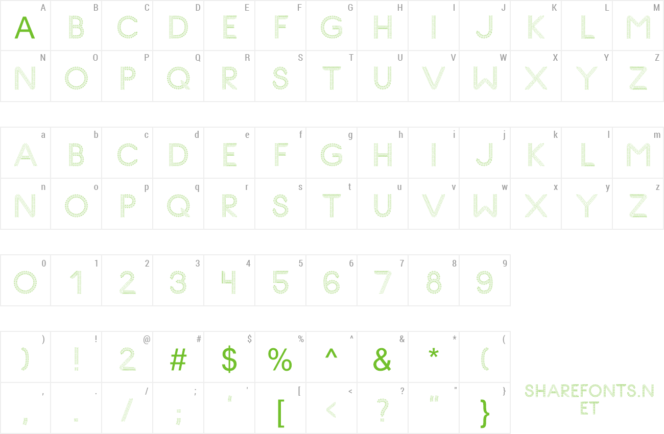 Font Glyph Stitch v4 preview