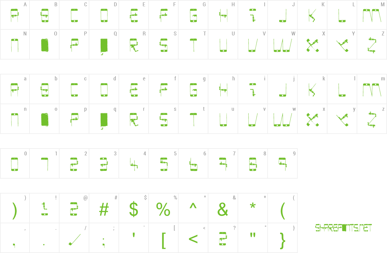 Font PHONE SCAN preview