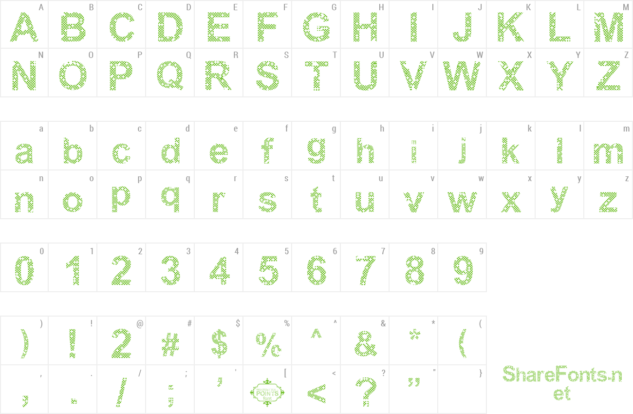 Font Woodcutter Points preview