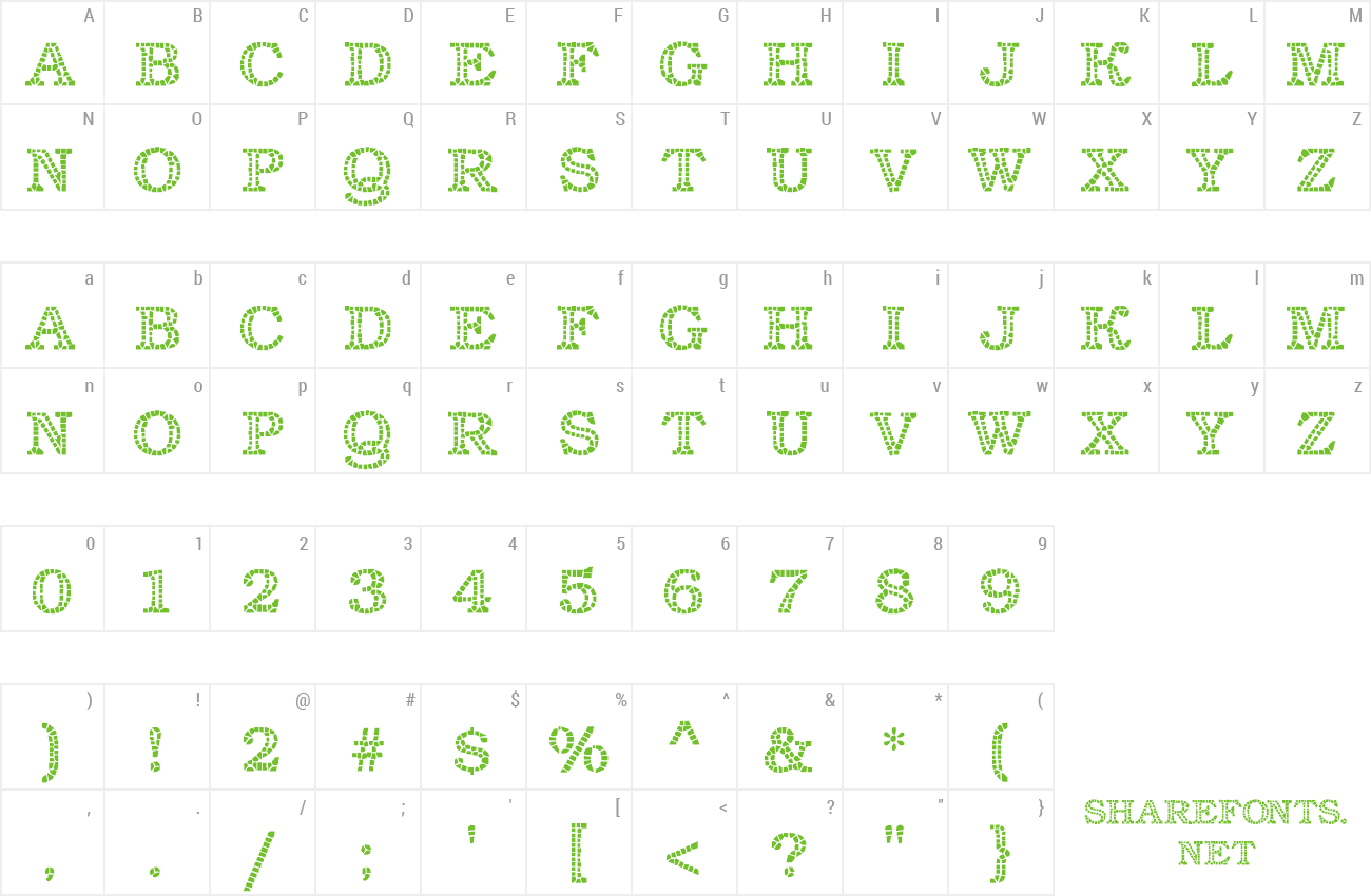 Font Classic Mosaic preview