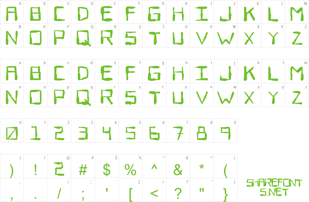 Font Sewer Rat preview