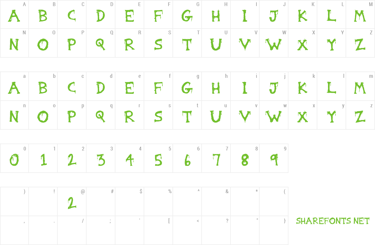 Font Gorestep preview