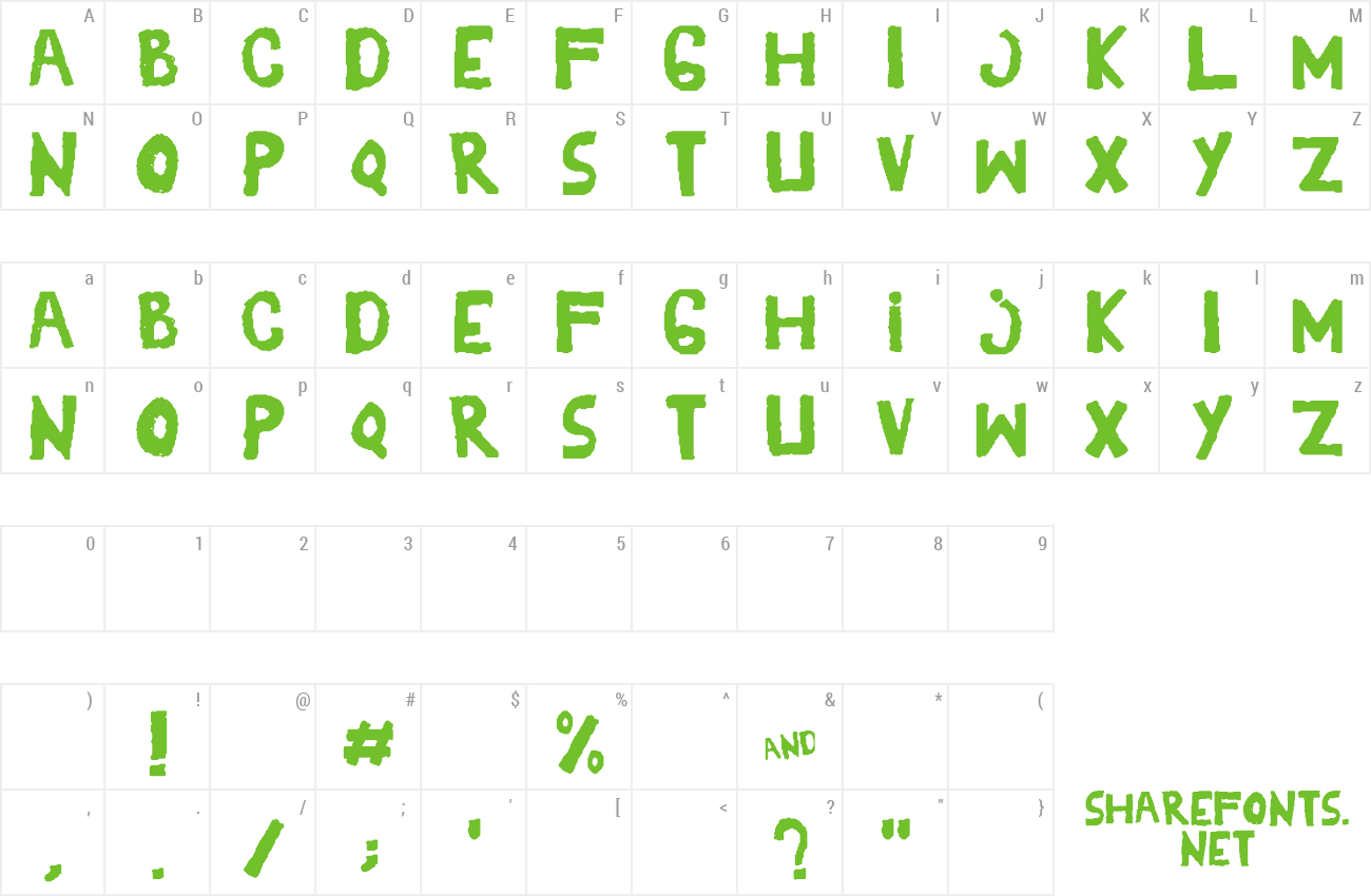Font YES_shaken preview