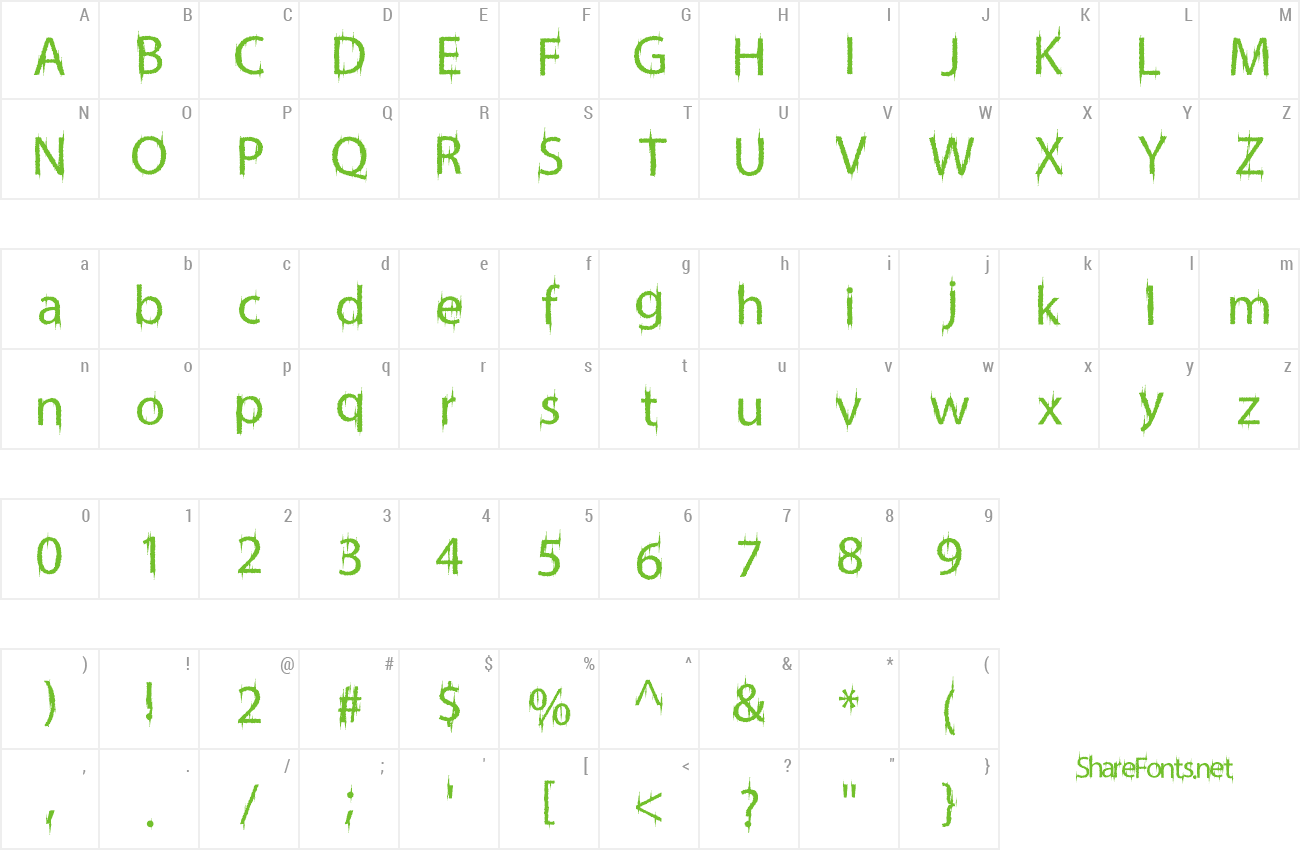 Font FriskyVampire preview