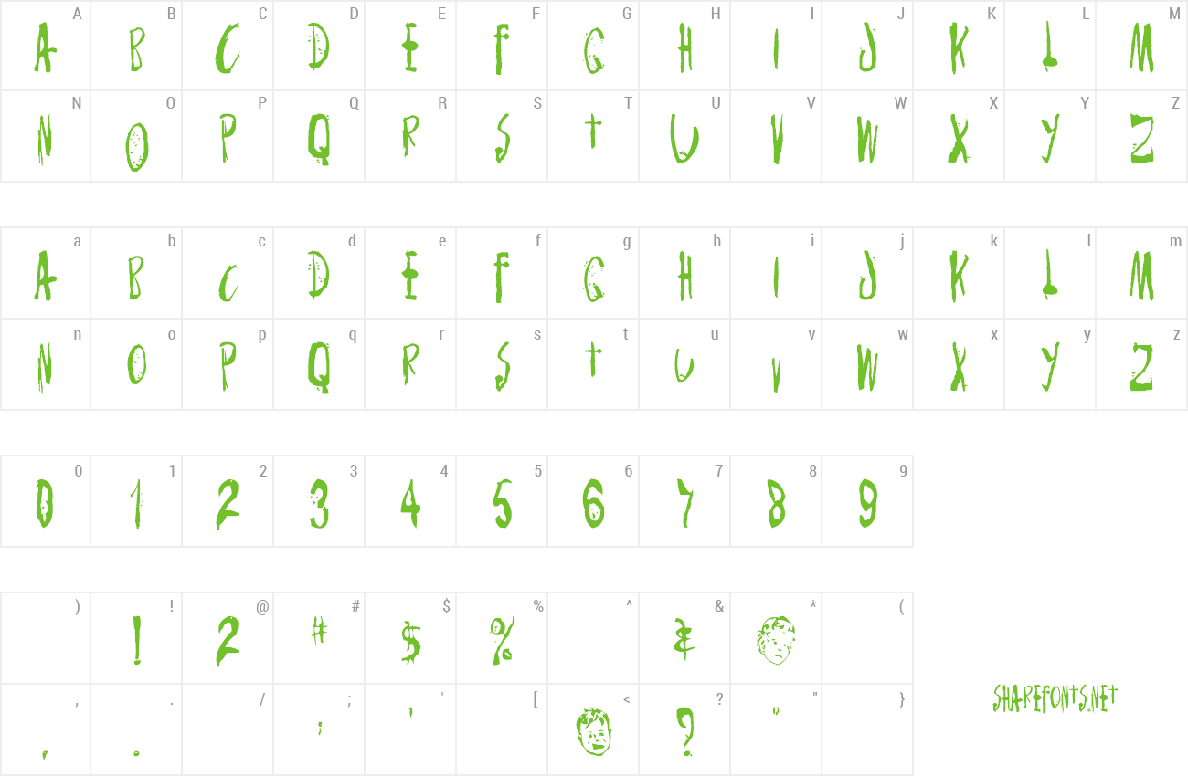 Font Monster Child preview