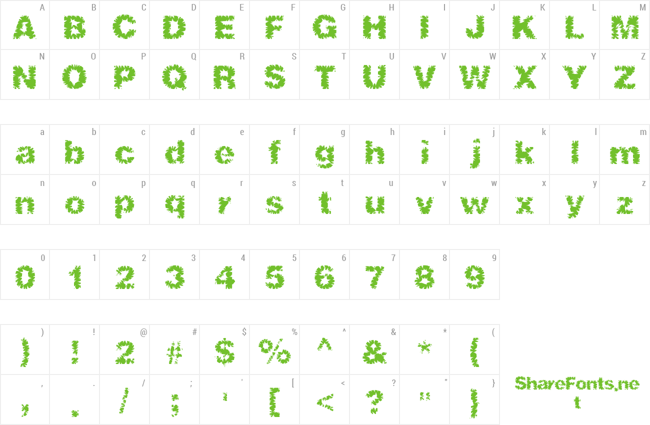 Font ShredHard preview