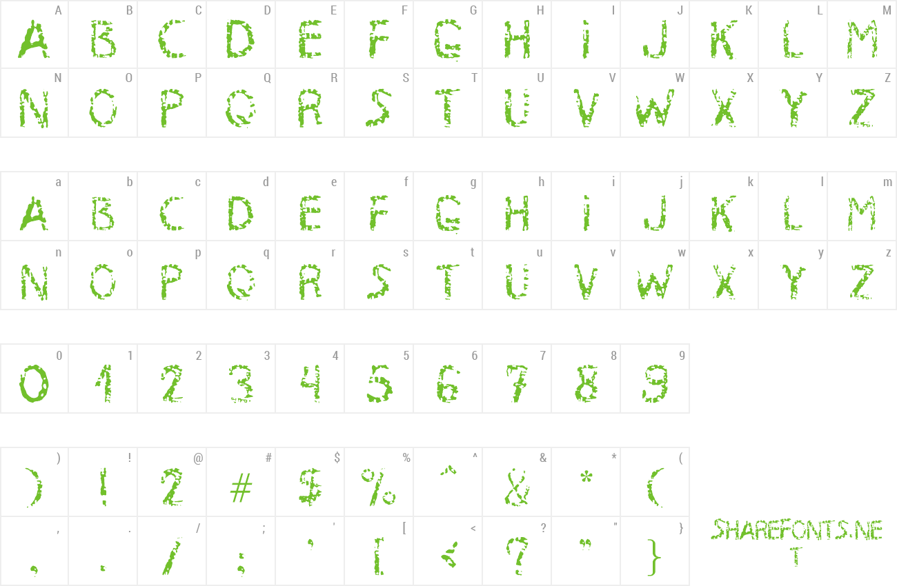 Font MB-RustyIron preview