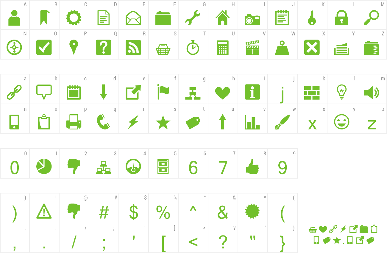 Download Free Font Heydings Common Icons