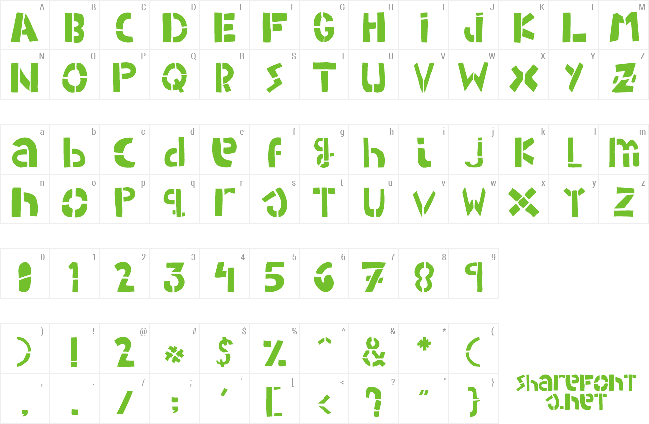 Download Free Font Woodcutter Army Stencil