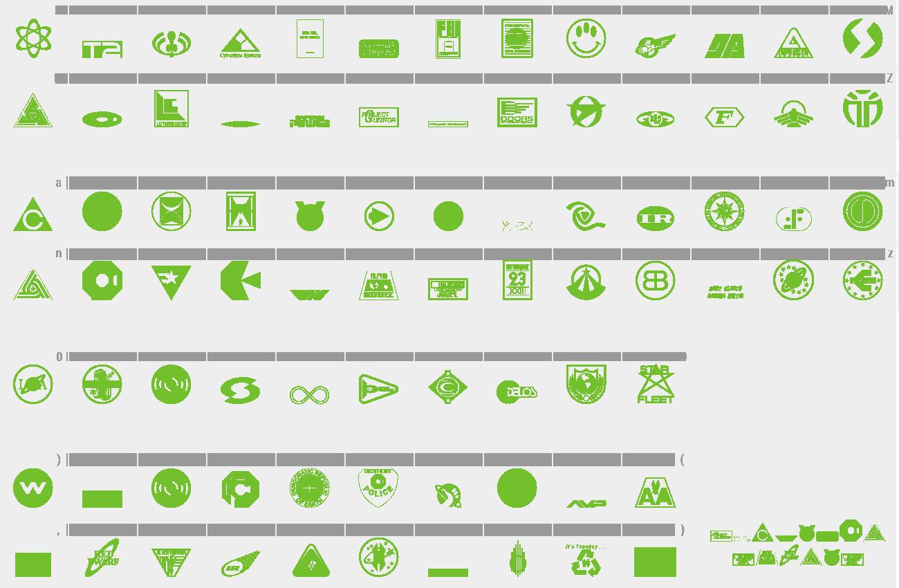 Download Free Font Sci-Fi-Logos