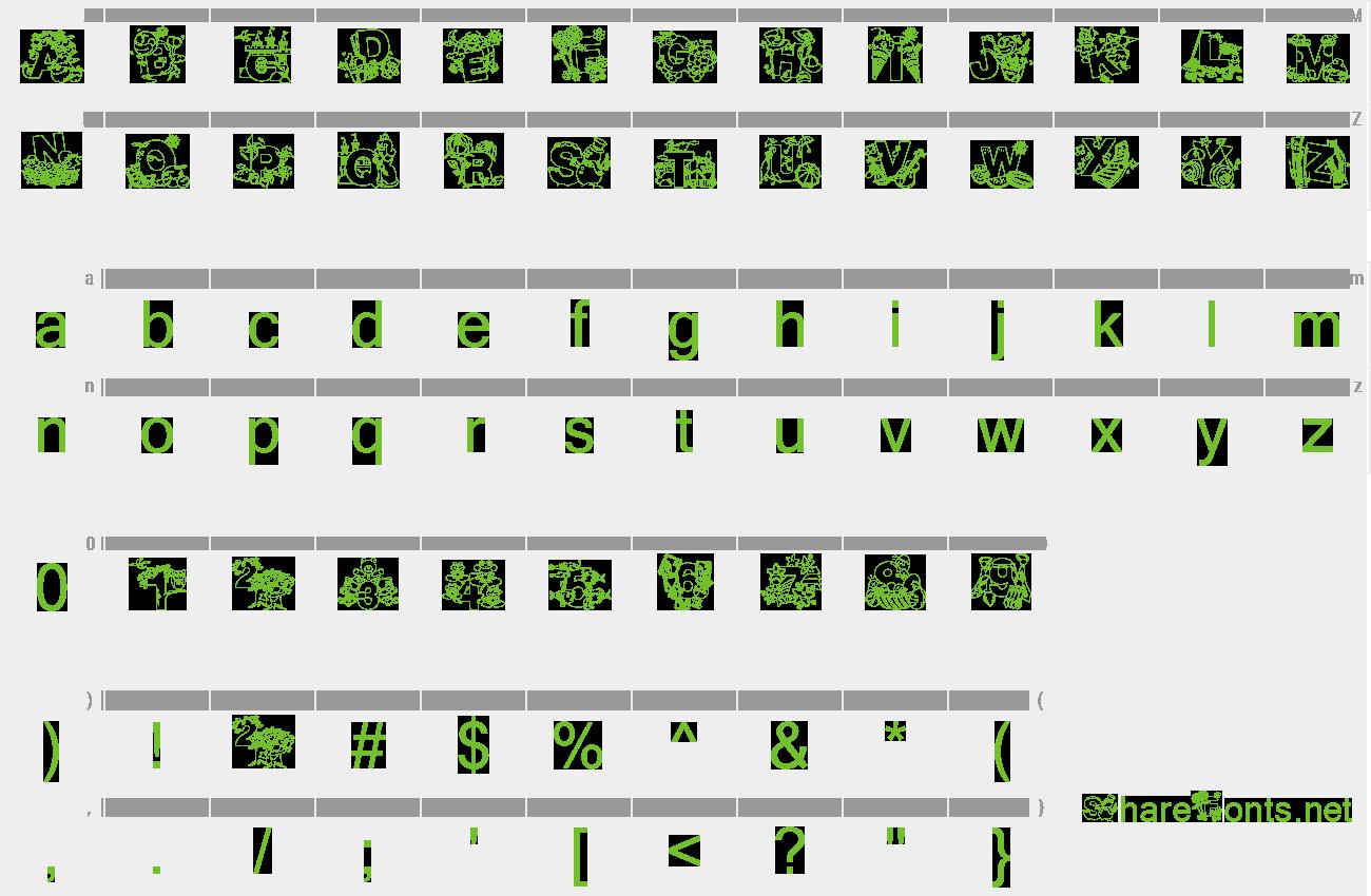 Download Free Font Crayola Kiddy Font