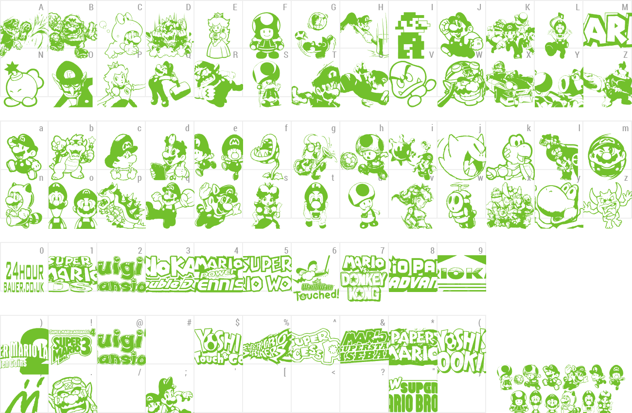 Download Free Font Mario And Luigi