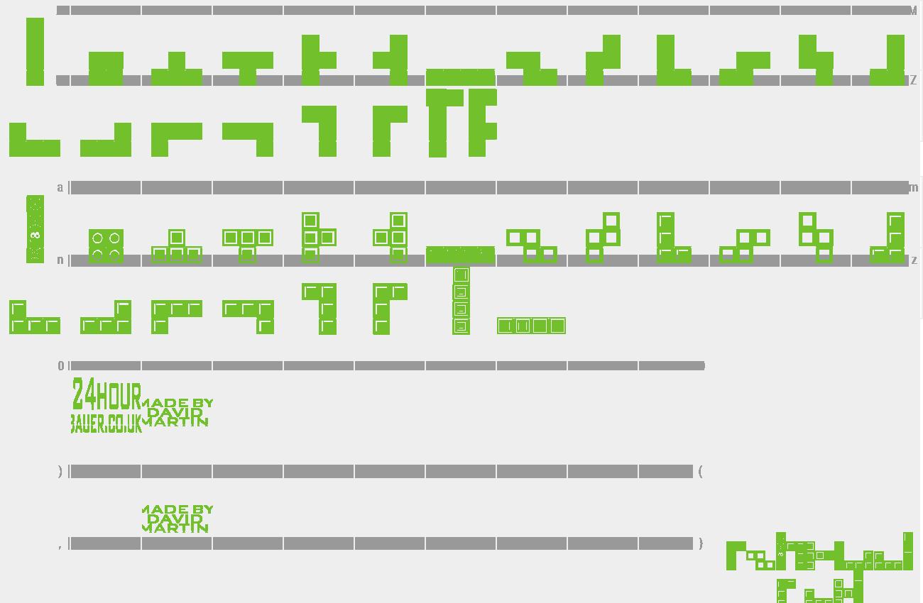 Download Free Font Tetris Blocks
